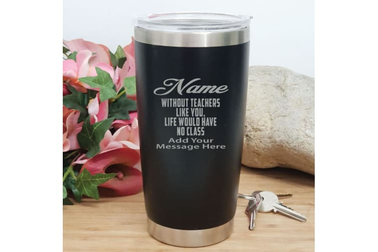 Teacher Insulated Travel Mug 600ml Black - No Class