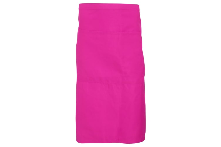 Dennys Adults Unisex Catering Waist Apron With Pocket (Pack of 2) (Hot Pink) (One Size)