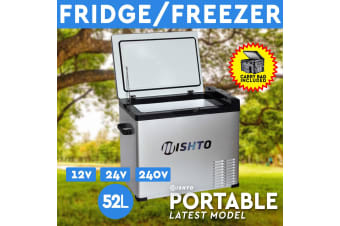 52L Portable Fridge Freezer 12V/24V/240V Camping Car Boating Caravan Bar Fridge