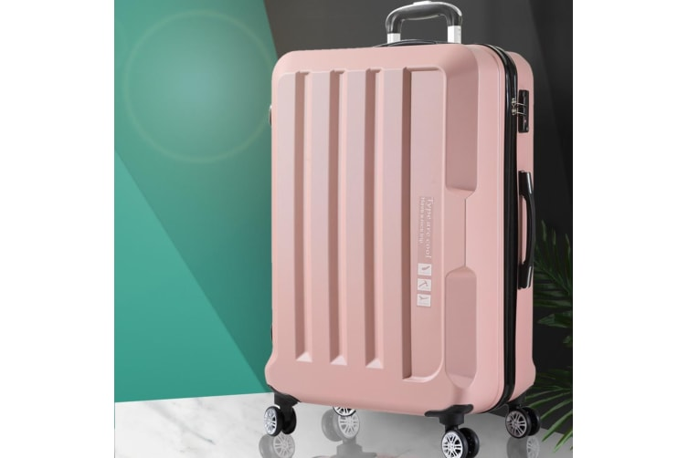 """Luggage TSA Hard Case Suitcase Travel Lightweight Trolley Carry on Bag 28"""" Pink"""
