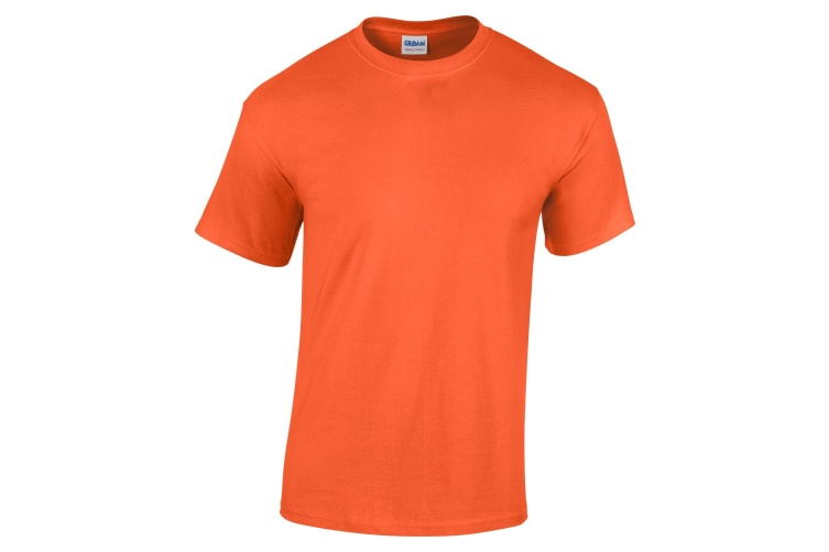 Gildan Childrens Unisex Heavy Cotton T-Shirt (Pack Of 2) (Orange) (S)