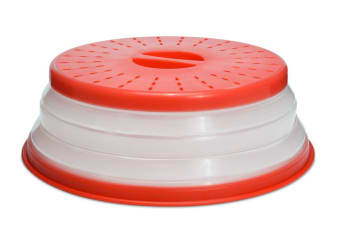 Tovolo Microwave Collapsible Food Cover Red