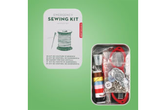 Kikkerland Emergency 48-Piece Sewing Kit | + Reusable Storage Tin