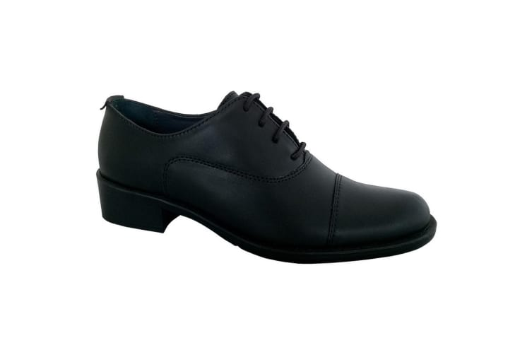 Grafters Womens/Ladies Capped Oxford 4 Eye Uniform Shoes (Black) (7 UK)
