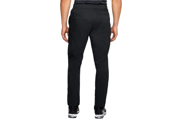 Under Armour Men's Tapered Golf Pants (Black/Steel, Size 34/34)