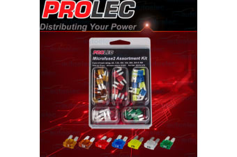 PROLEC 35 PIECE MICRO2 MICROFUSE 2 FUSE ASSORTMENT KIT 5 AMP - 30 AMP 12 24 VOLT