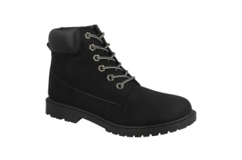 Spot On Womens/Ladies Military Combat Ankle Boots (Black) (UK 4)