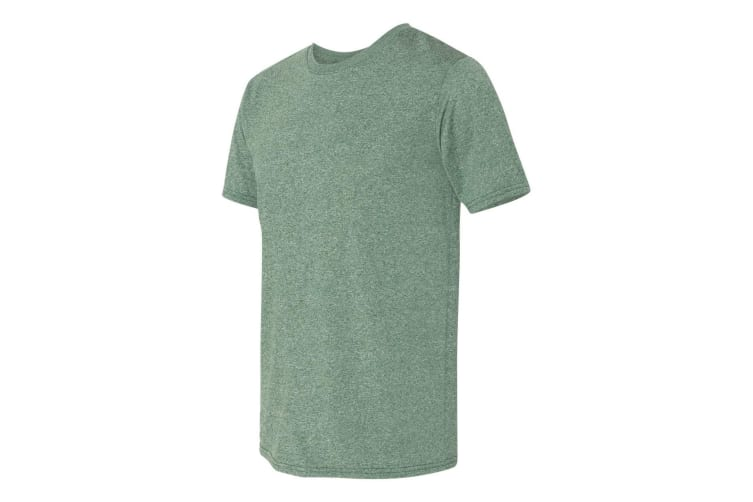 Gildan Mens Core Short Sleeve Moisture Wicking T-Shirt (Heather Sport Dark Green) (3XL)