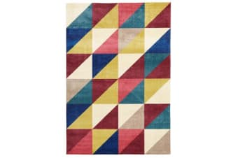 Stunning Matrix Rug Raspberry Blue 220x150cm