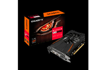Gigabyte AMD Radeon RX560 OC 4GB DDR5 PCIe Video Card 8K 7680x4320 3xDisplays DVI HDM DP 1199/1189 MHz 90mm Fan CrossFire ~GV-RX560GAMING-OC-4GD