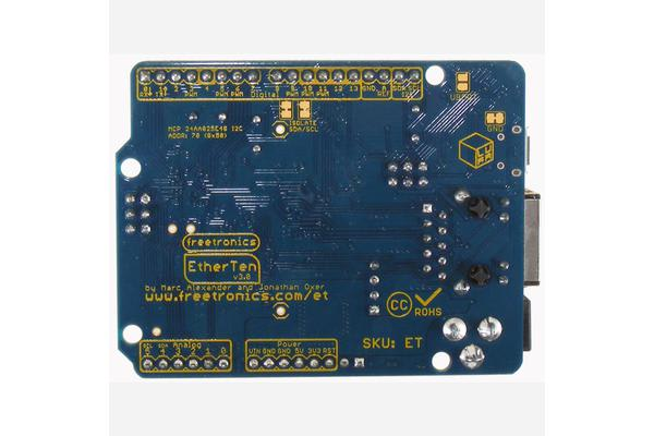 EtherTen (100% Arduino compatible with onboard Ethernet)