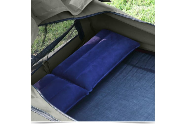 Mountview Camping Swags Canvas Swag Tent Kings Pole Daddy Bag Awning Double Grey  -  DoubleDouble