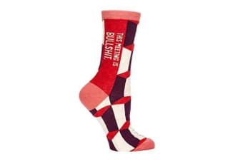 This Meeting Is Bullsh*t Socks - Women (Red)