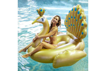 Aqua Fun Golden Peacock Inflatable Pool Toy