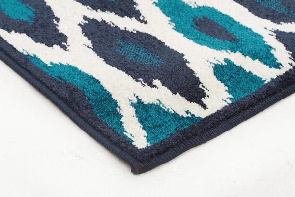 Indoor Outdoor York Rug Blue Navy 290x200cm