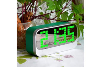Led Digital Alarm Clock Portable Battery Powered Large Display Green