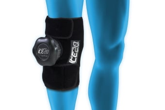 Ice20 Ice Therapy Single Knee Calf Cold Compression Wrap Pain Relief w Strap/Bag