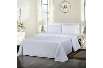 Royal Comfort Cooling Bamboo Blend Sheet Set Striped 1000 Thread Count Pure Soft - King - White