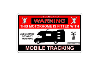 W4 Security Tracking Fitted Motorhome Sticker (Red/White/Black)