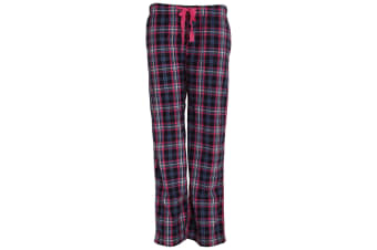 Forever Dreaming Womens/Ladies Tartan Checked Pyjama Bottoms/Lounge Pants (Navy)
