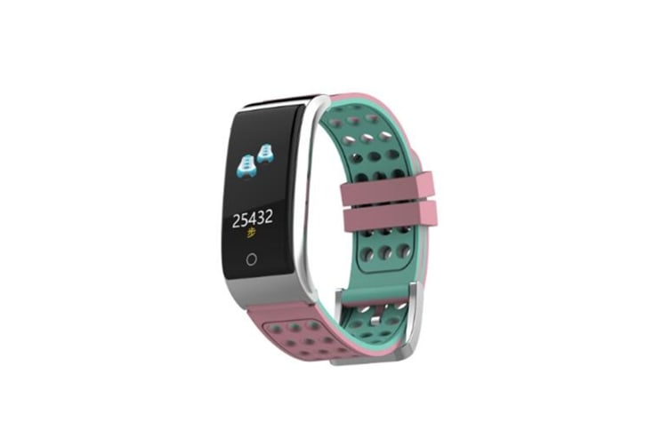 WJS 0.96inch Color Screen Blood Pressure Heart Rate Monitor Sport bluetooth Smart Wristband Watch-PINK