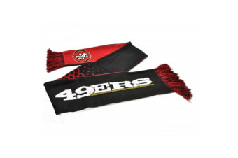 San Francisco 49ers Official NFL Fade Design Scarf (Black/Red/White) (One Size)