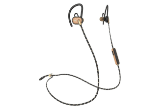 House of Marley Uprise Wireless Bluetooth Earphones/Earbuds for Smartphone Brass