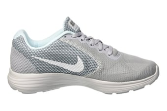 Nike Women's Revolution 3 Shoe (Wolf Grey/White Glacier/Blue, Size 8)