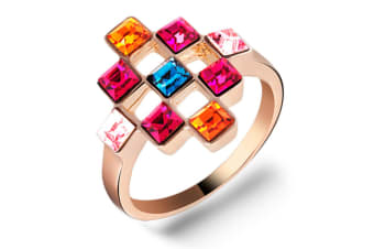 Picasso Ring Crystal Embellished with Swarovski crystals  Size US 8