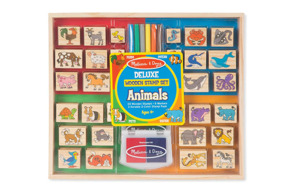 Melissa & Doug 38 Piece Delux Animal Stamp Set