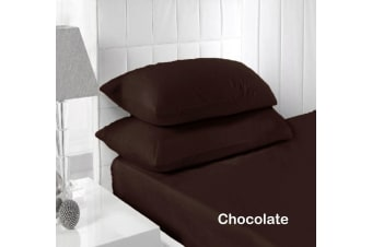 250TC Fitted Sheet Set Chocolate - Single by Accessorize
