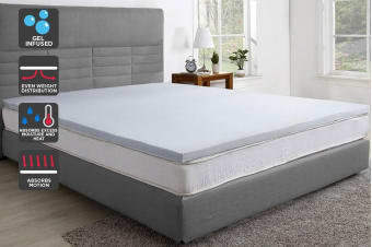 Trafalgar Cool Gel Infused Memory Foam Mattress Topper with Bamboo Cover (Queen)