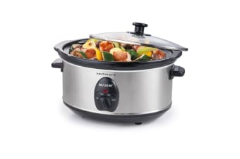 Maxim 3.5L Stainless Steel Slow Cooker (NSC-350SS)