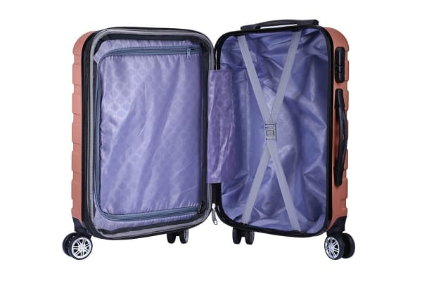 Milano Luggage XPander Series 3 Piece Set (Rose Gold)