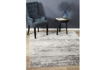 Landon Silver & Grey Vintage Look Rug
