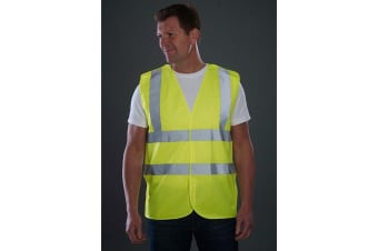 Grafters Unisex Hi-Visibility Safety Waistcoat (Yellow) (6XL)