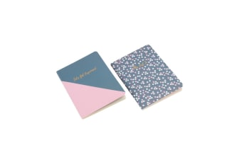 CGB Giftware Willow And Rose A6 Matching Notebook Set (Blue/Pink)