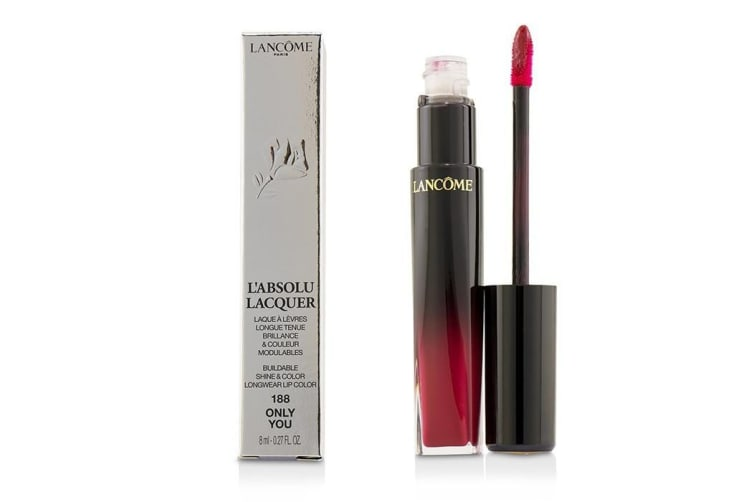 Lancome L'Absolu Lacquer Buildable Shine & Color Longwear Lip Color - # 188 Only You 8ml