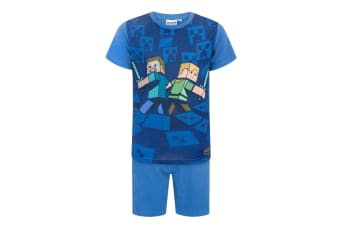 Minecraft Official Boys Surrounded Pyjamas (Blue)