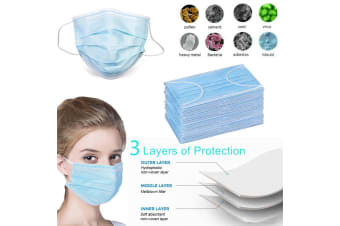 10PCS Disposable Face Mouth Mask 3-Ply Anti Flu Medical Protective Respirator