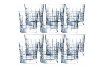 12PK Cristal D'Arques Rendez-Vous 320ml Old Fashioned Whiskey Glasses Glass Bar