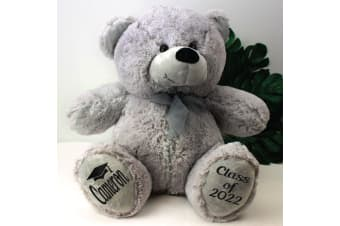 Graduation Personalised Teddy Bear 40cm Plush Grey