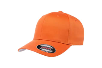 Flexfit Unisex Wooly Combed Cap (Orange)