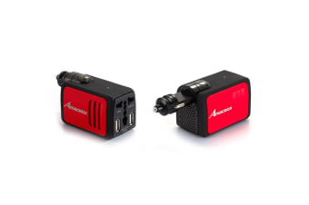Amacrox 2.1A/100W DC to AC Power Adapter/Inverter Car Charger w/ Dual USB Ports