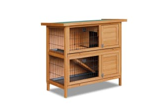 (Double) Storey Rabbit Hutch with Foldable Ramp