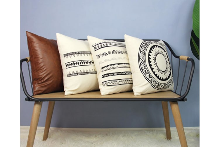 4Pcs High-Quality Sofa Cushion Sleeve For Household Cotton Printing Pillowcase White 45*45Cm