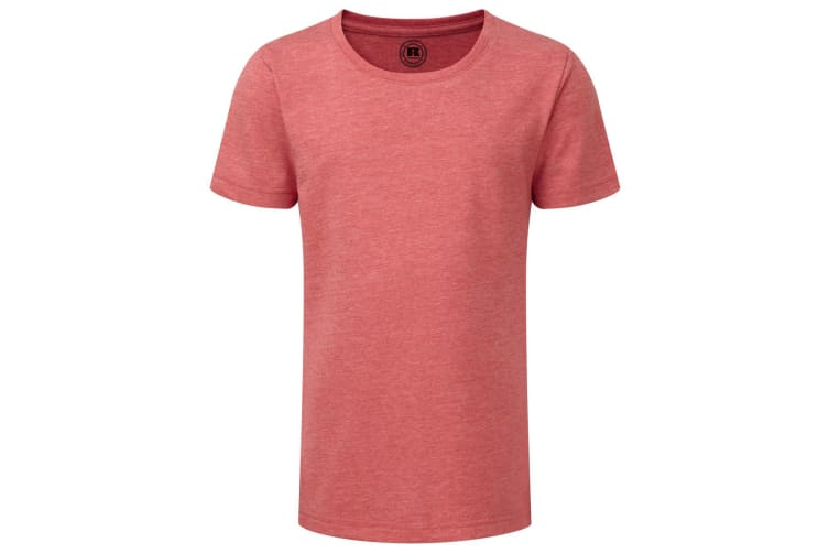 Russell Older Girls Short Sleeve HD T-Shirt (Red Marl) (13-14 Years)