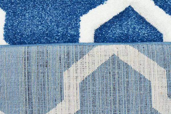 Cross Hatch Modern Rug Blue 400X80cm
