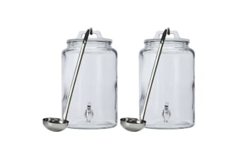 2x Maxwell & Williams 6.3L Tiki Beverage Drink Juice Water Dispenser Stand Ladle