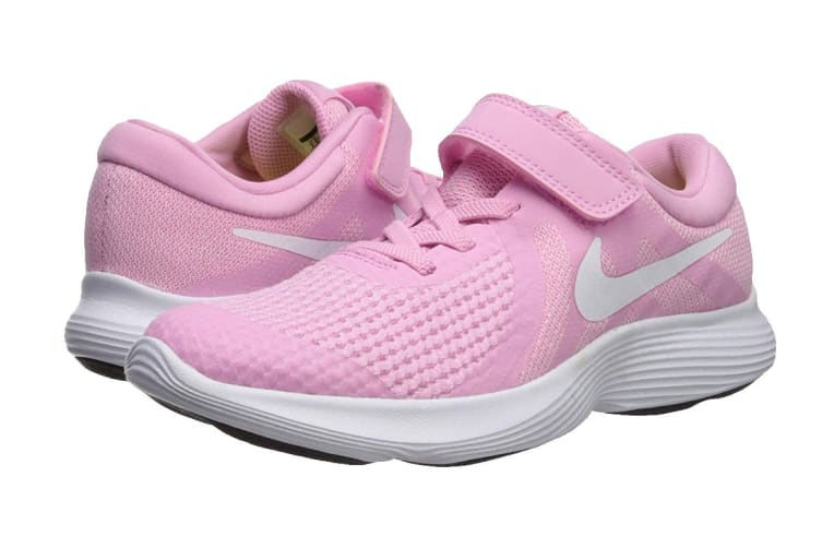 Nike Revolution 4 (PS US) Girls' Pre-School Shoe (Pink Rise/White, Size 11C US)